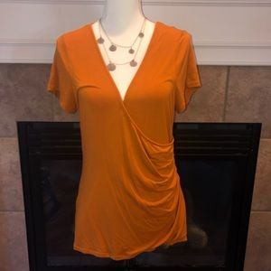 The Limited rust orange knit top sz L